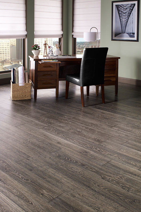 Dark Laminate Floors In Office
