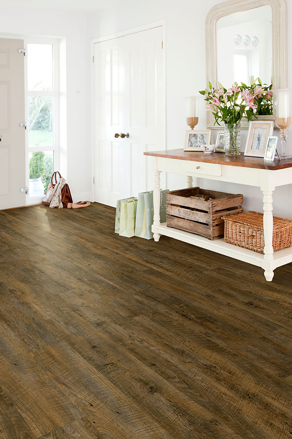 durable vinyl floors in entryway
