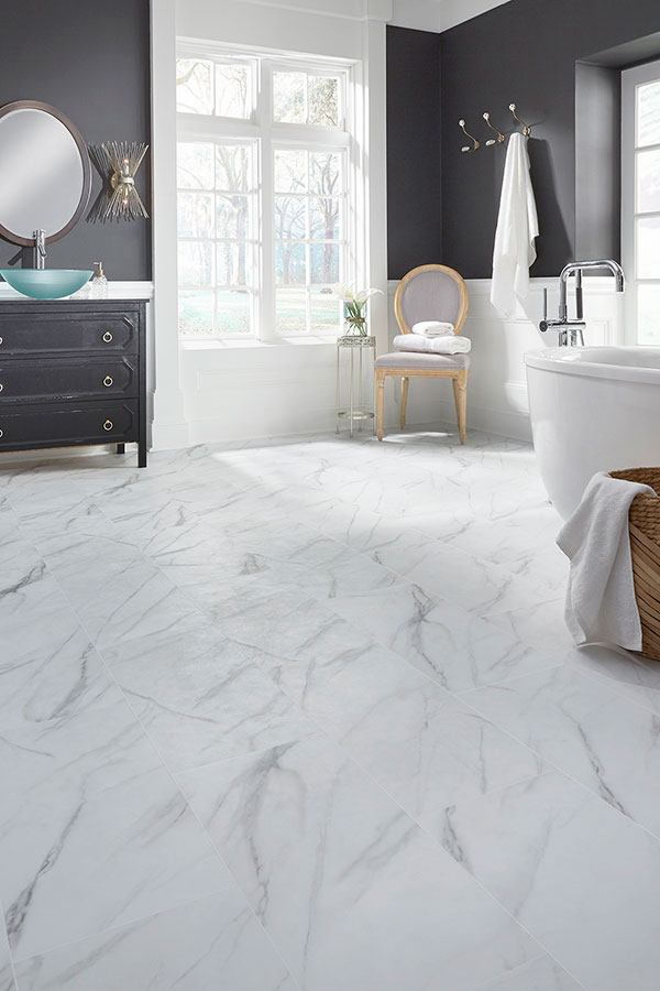 classic marble design bathroom floor