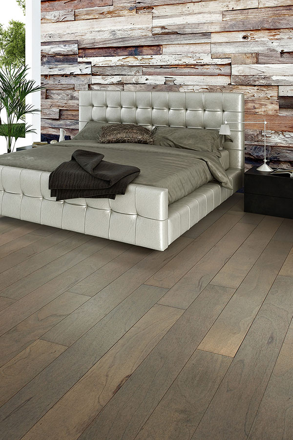 plank flooring on a bedroom wall