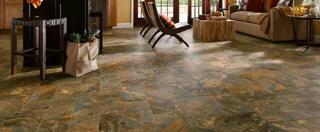Shop flooring in vinyl hardwood tile carpet more for Most popular flooring in new homes
