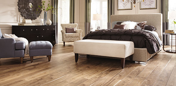 Laminate floors in master bedroom