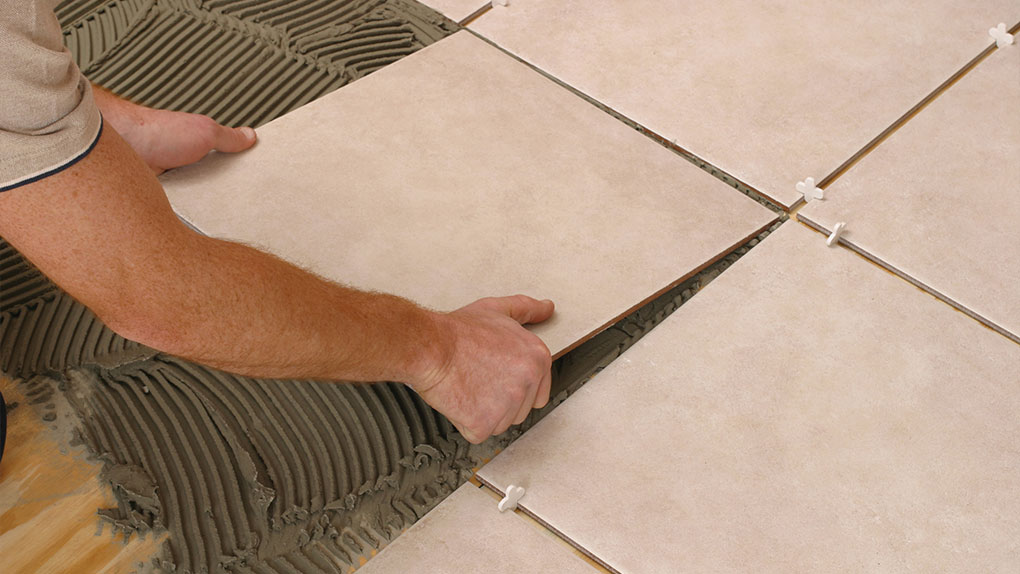 placing the tiles