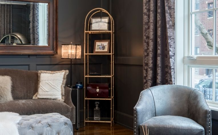 Winter 2020 Interior Design Trends in Living Room Metallic Colors