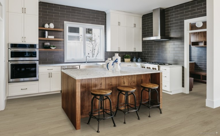 Wood-Look Flooring Kitchen