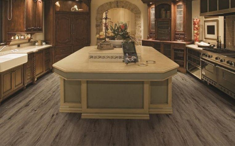 Wood-Look Flooring Large Kitchen