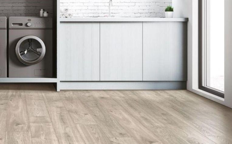 Wood-Look Flooring Laundry Area