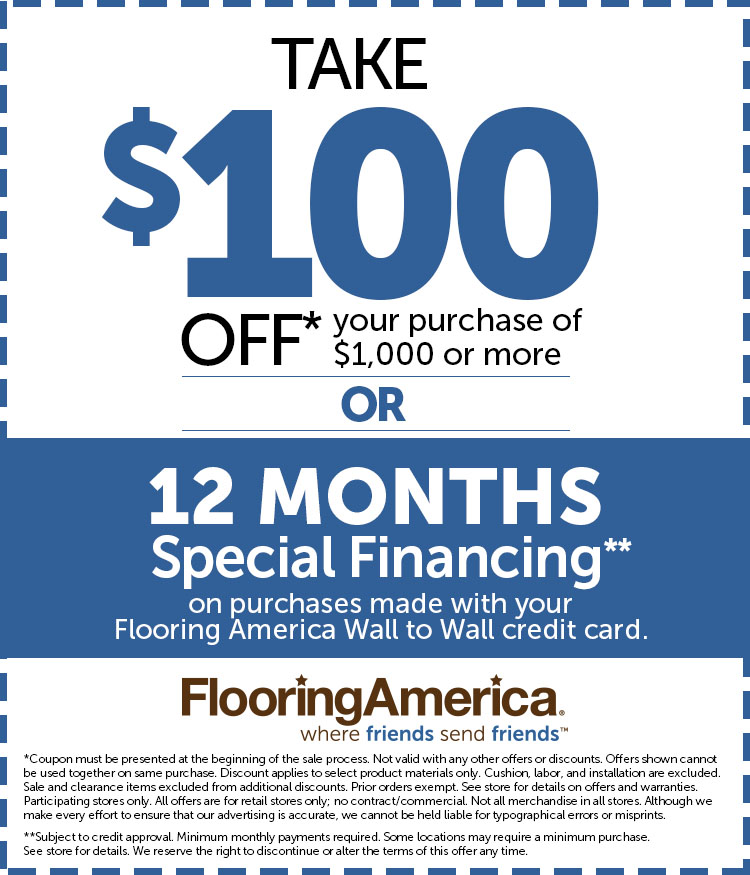 Want 100 Off Your Flooring Purchase