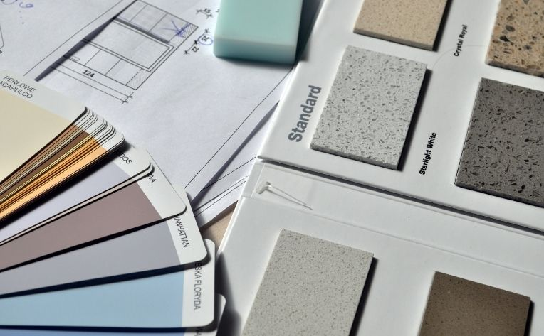 use swatches to decide wall color
