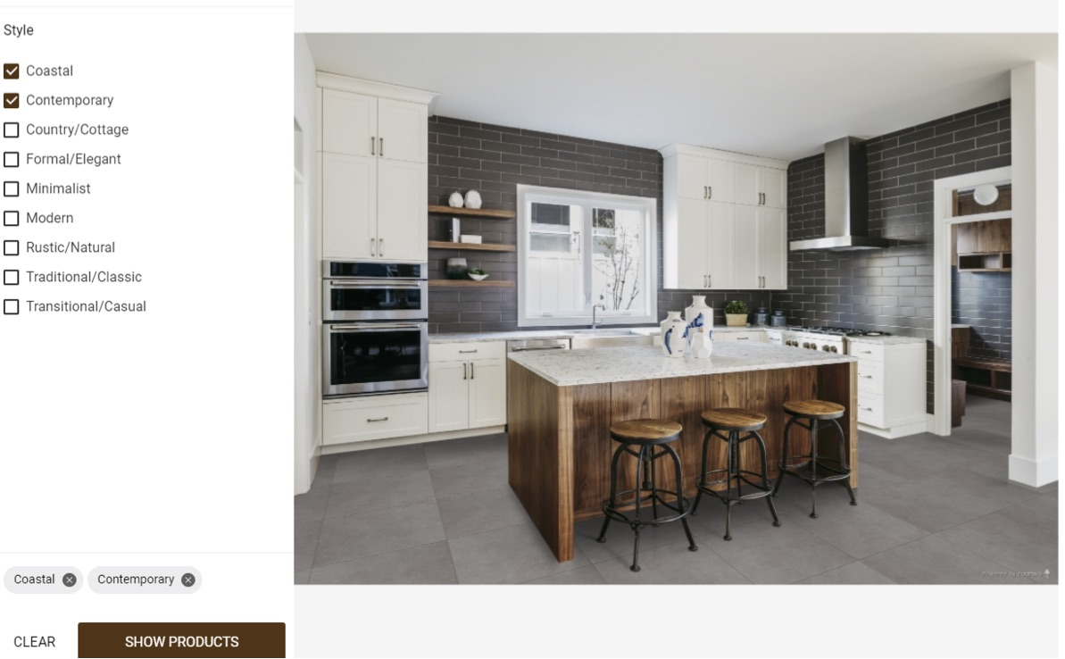 room visualizer hardwood kitchen flooring example