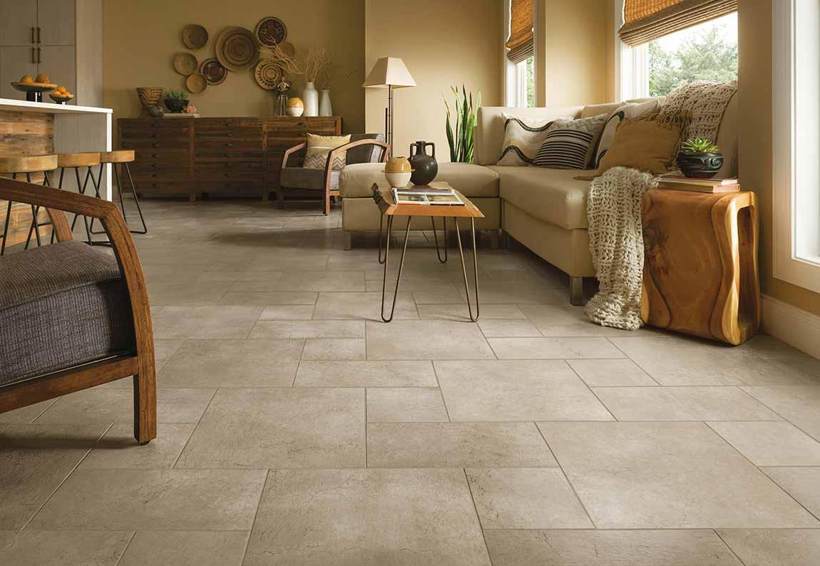 Tile Rustic Farmhouse Living Room, Tile Floors In Living Room