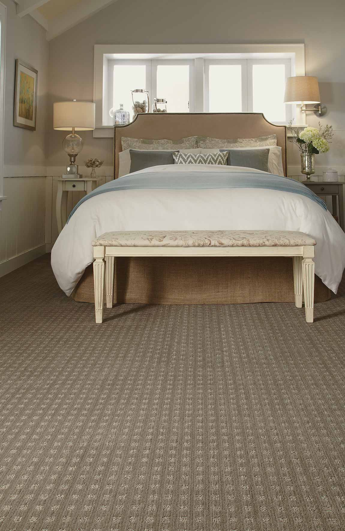 Carpeted Coastal Beach House Bedroom Flooring Designs ...
