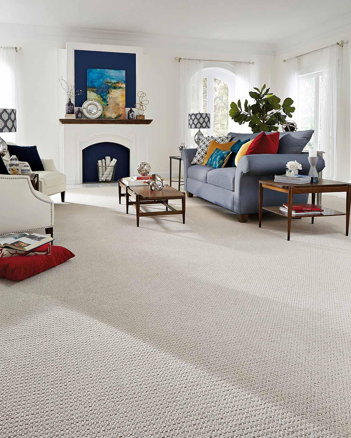 Carpeted Coastal Beach House Living Room Flooring Designs Flooring America