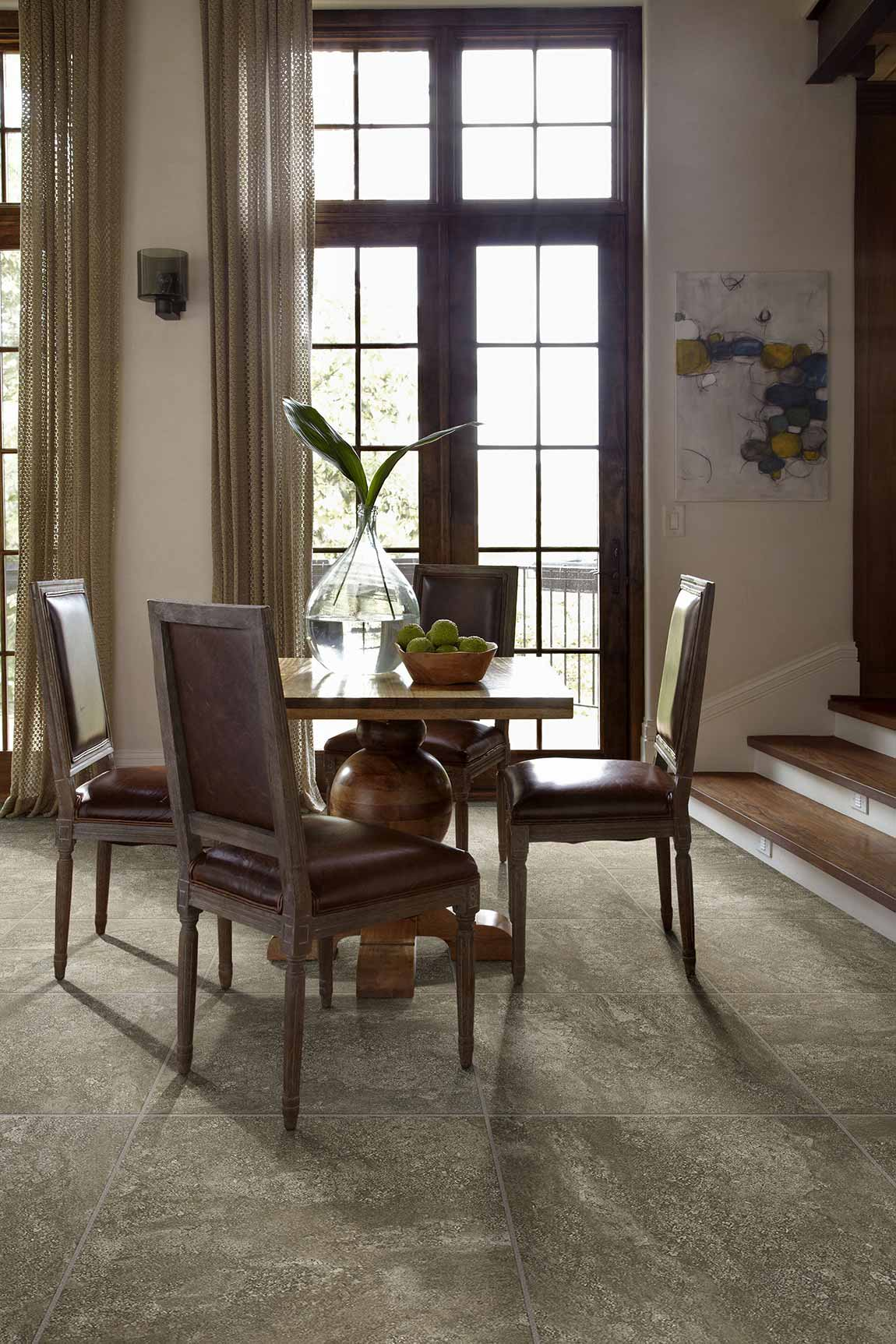 Tile Modern & Contemporary Dining Room Flooring Designs  Flooring
