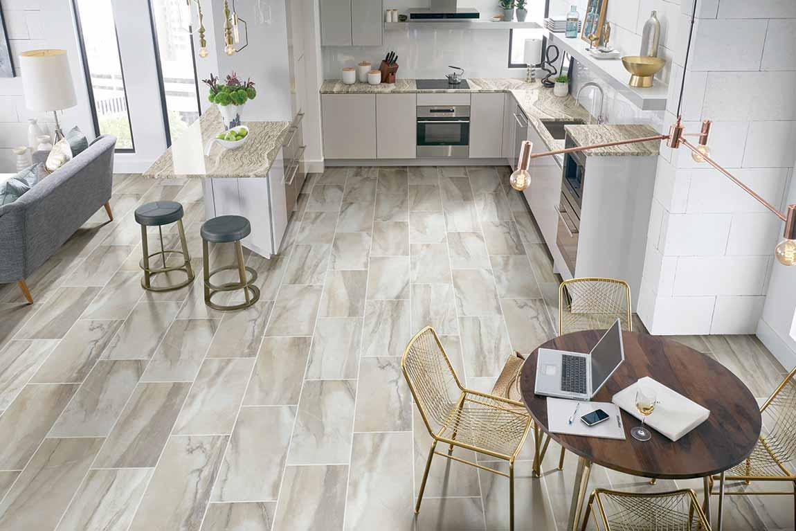 Coastal Beach House Kitchen Flooring