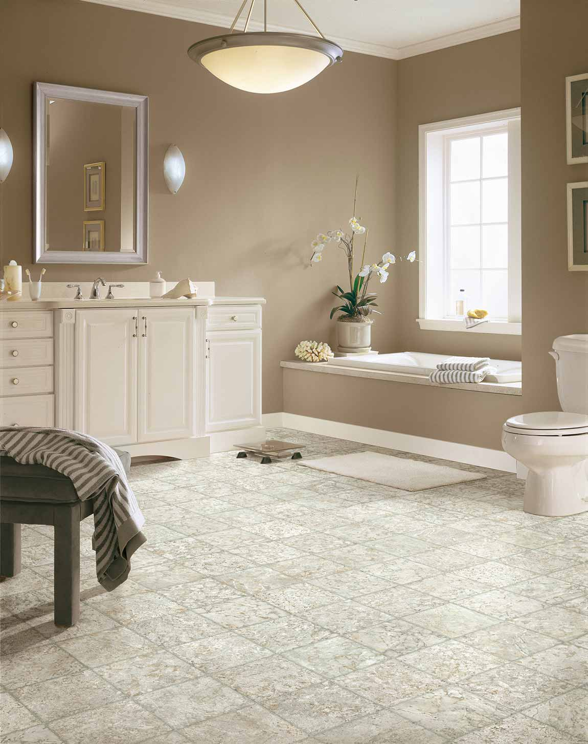 Tile Coastal Beach House Bathroom Flooring Designs | Flooring America