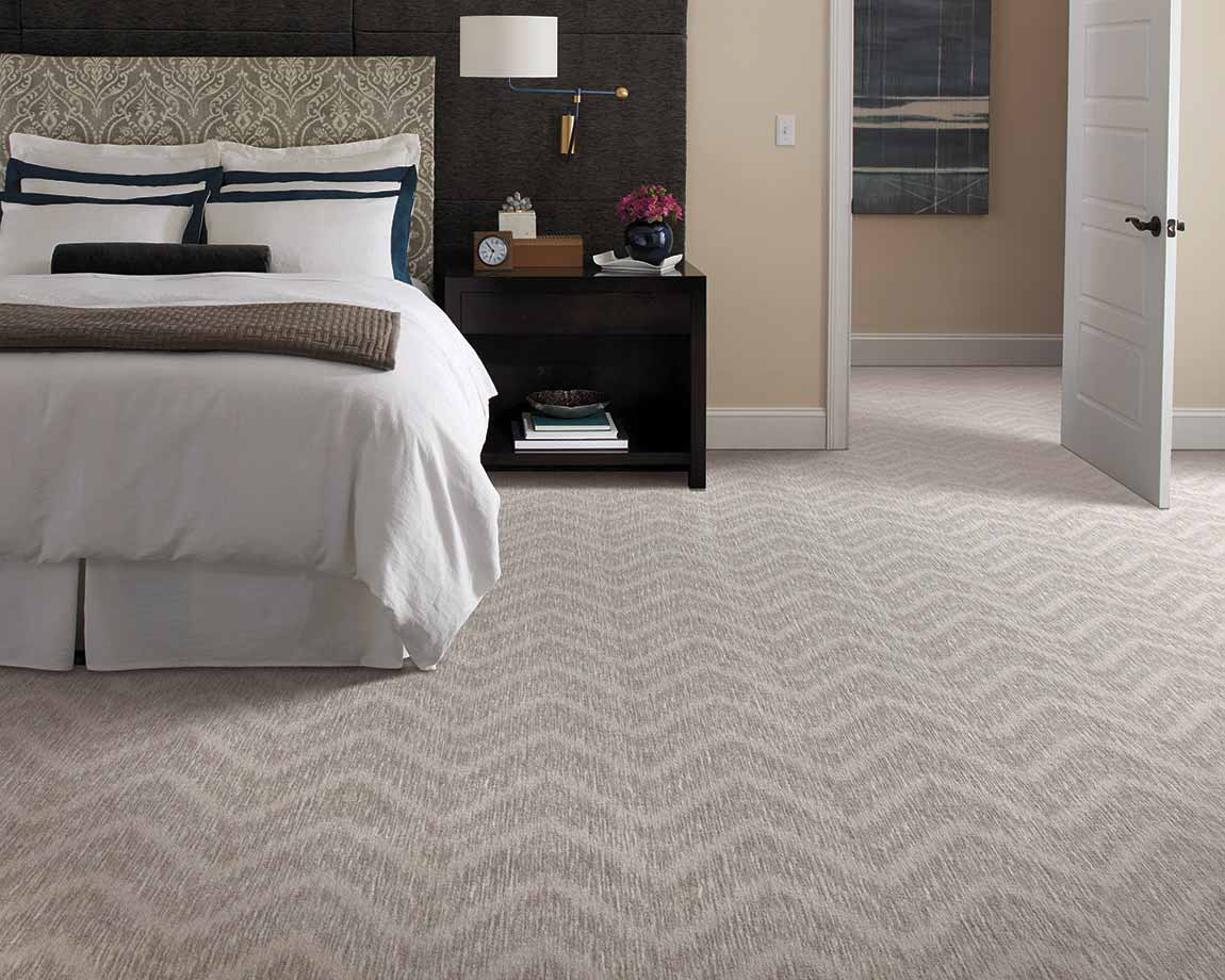 Modern Contemporary Bedroom Tone On Tone Pattern Carpet