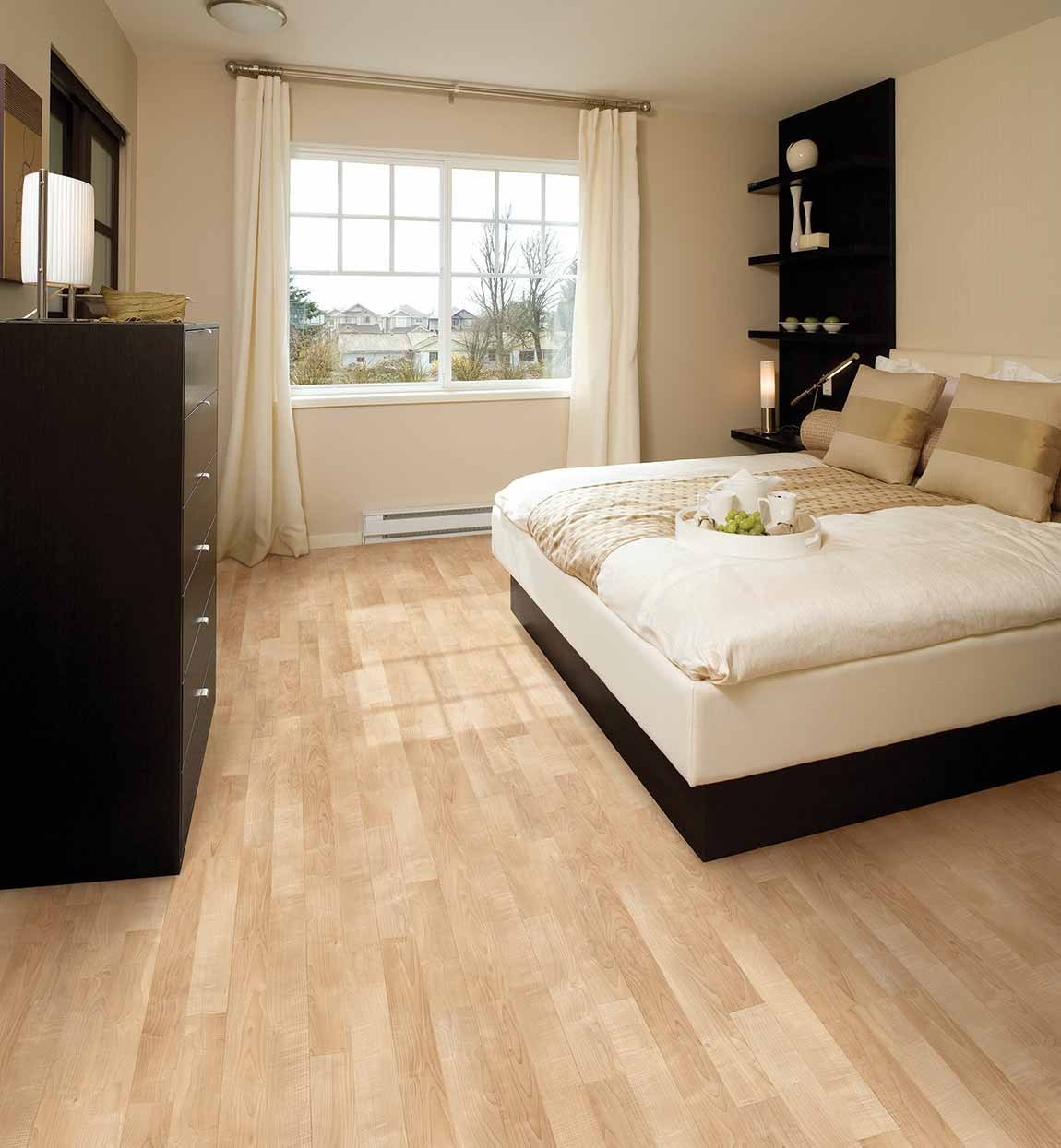 Modern Contemporary Bedroom Light Wood Look Design & Ideas