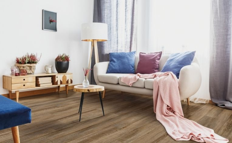 hygge living room with couch