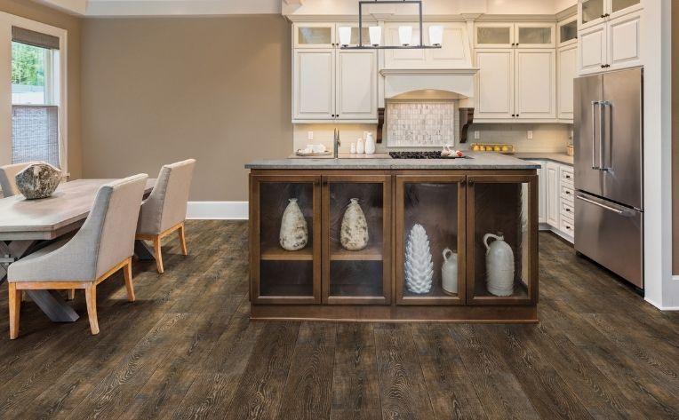 laminate in open kitchen