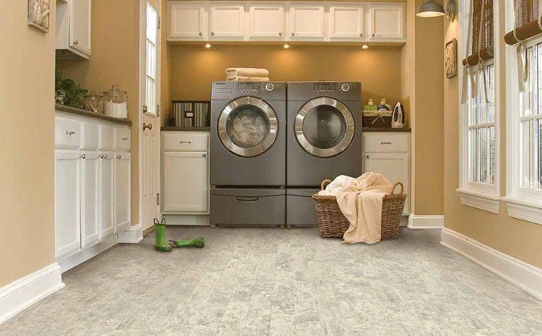 vinyl floors in laundry room